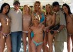 "Rico Montana and I with the cast of our first ""Orgy Sex Party"" scene for PinkVisual"